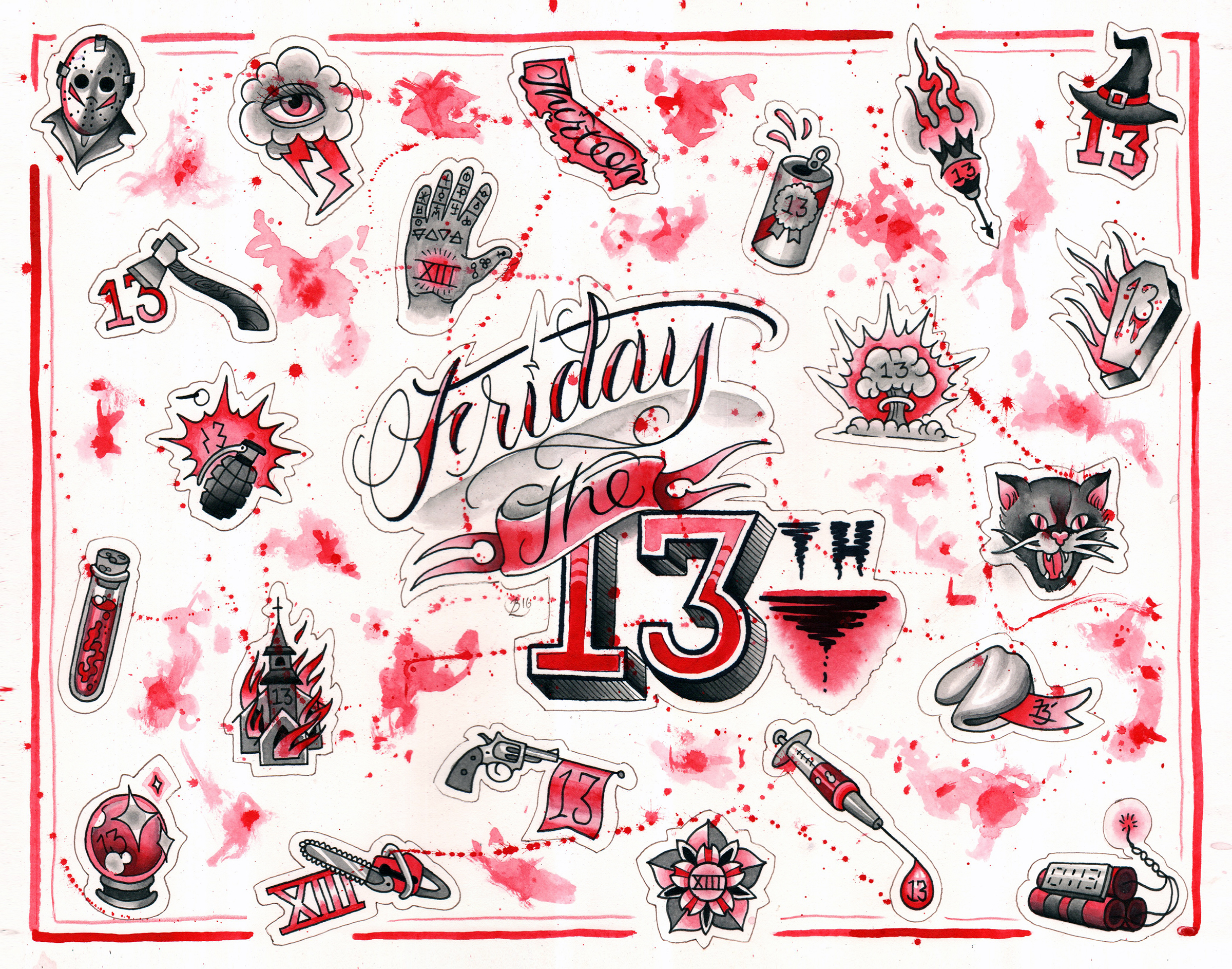 friday the 13th flash sheet 2016